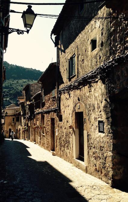Valldemossa Village old quarter streets by Sarah Santa Cruz