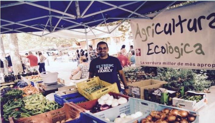 Organic food market in Palma