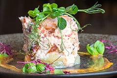 Seafood Tian Starter, White Swan Inn Belford