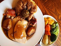 Eating out in Northumberland. Blue Bell Hotel Belford. Sunday Lunch. Sunday Dinner. Kids eat Free. Roast with all the trimmings. 3 corse special menu