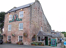 Eating out, pub food Craster Arms, Beadnell exterior.Dog friendly. Northumberland