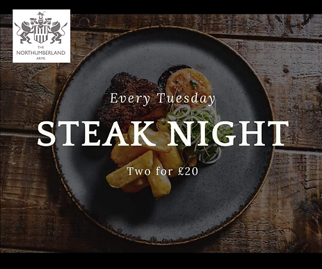 Northumberland Arms Steak Night