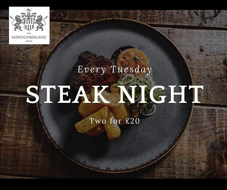Northumberland Arms Steak Night