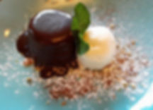 Sticky toffee pudding. The lindisfarne Inn Beal Northumberland. Eating out in Northumberland