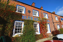 Eating out in Northumberland. Blue Bell Hotel Belford exterior