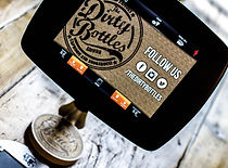 Eating out in Northumberland. Dirty Bottles Taproom and Smokehouse. Alnwick. iPad ordering