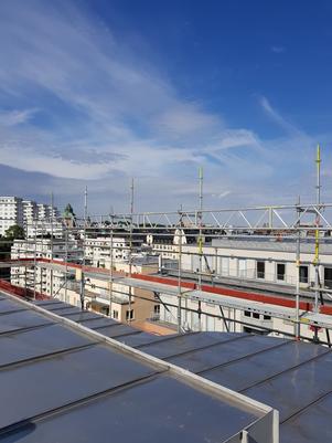 Byggställning, fasadställning, stockholm