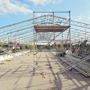 Fasadställning, byggställning, Stockholms Län