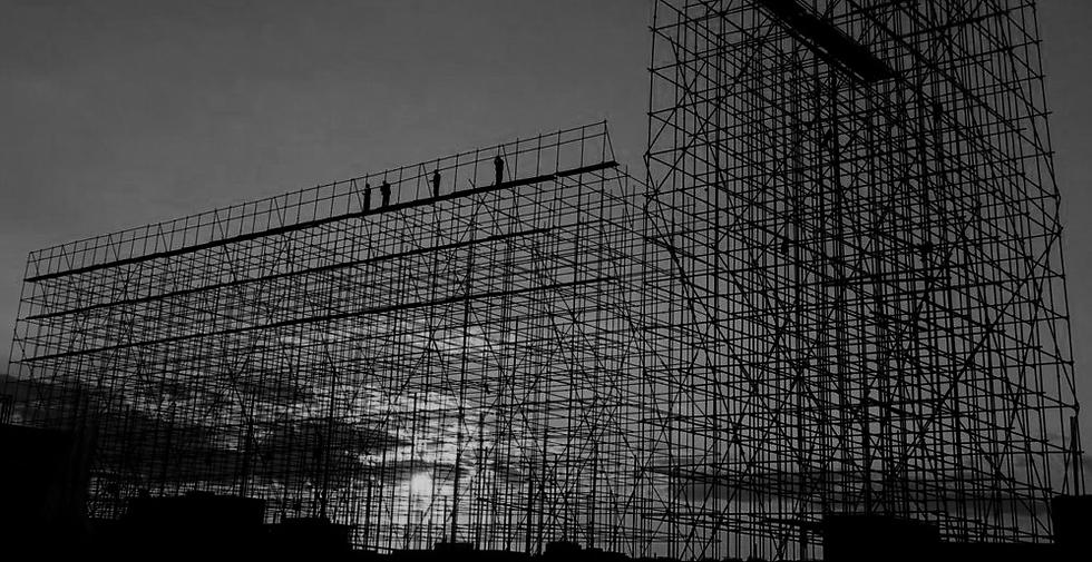 Fasadställning, Byggnadsställning, stockholm