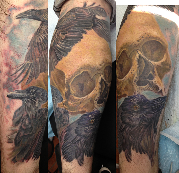 crows and skull