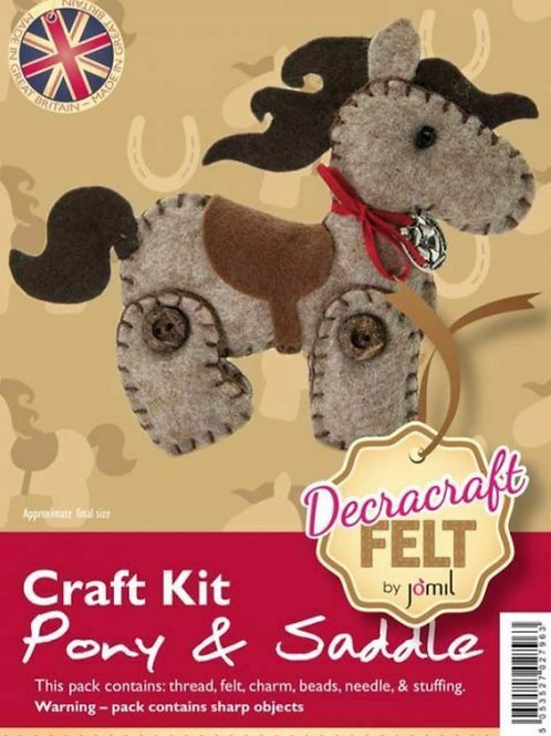 Felt Pony and Saddle craft Kit