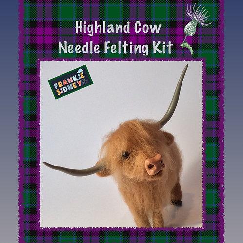 Highland Cow Needle felting Kit