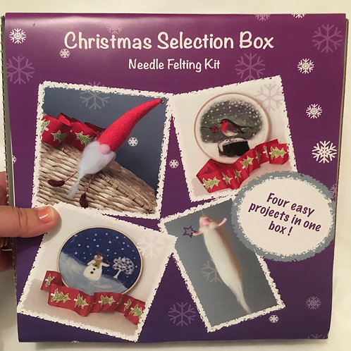 Christmas Selection Box Felting  Kit