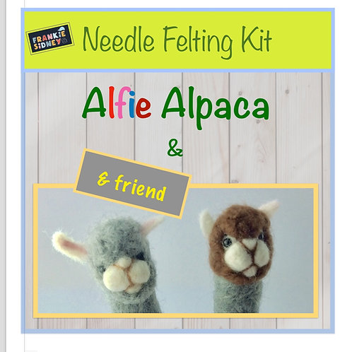 Alfie Alpaca & Friend Needle Felting Kit