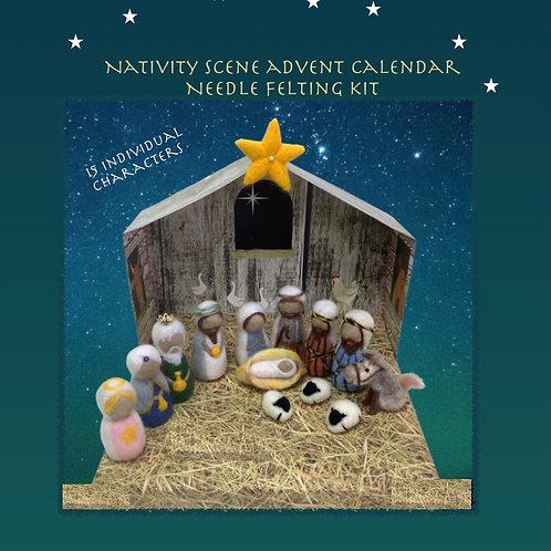 Nativity Advent Calendar Needle Felting Kit
