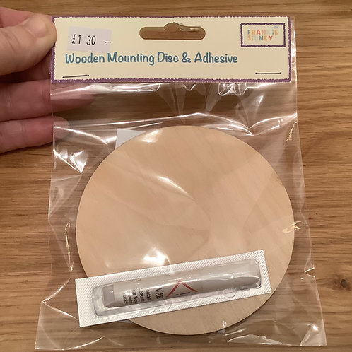 Wooden mounting disc pack