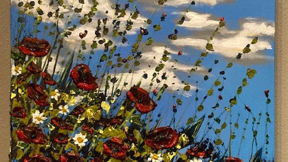 Poppy Ribbons 20x24