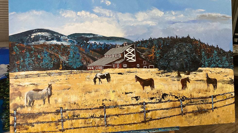 Highland Pastures 30x48