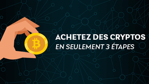 Achetez des cryptomonnaies en 3 étapes (guide 2021)