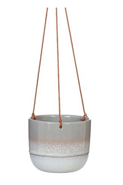 Glaze Grey Hanging Planter