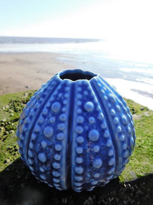 Blue Echinus Vase