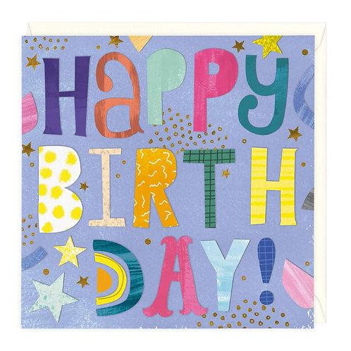Bright Typography Birthday Card