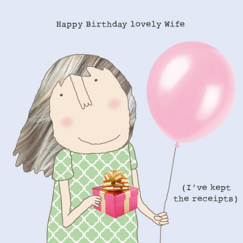 Happy Birthday Lovely Wife Card