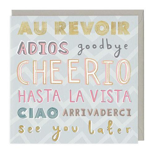 Au Revoir Leaving Card
