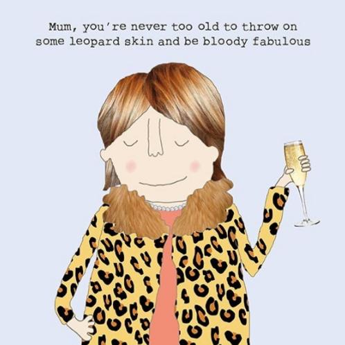 Mum Leopard Skin Card