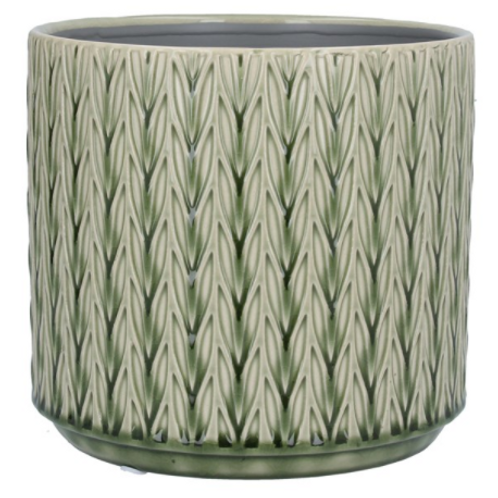 Green Staghorn Large Ceramic Pot Cover