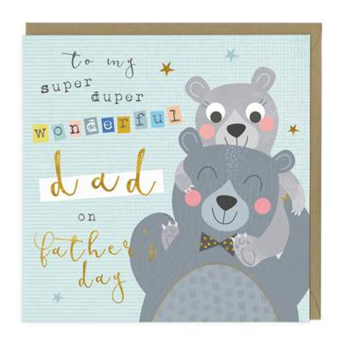 Happy Bears Father's Day Card