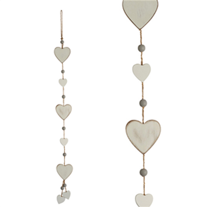 Hanging String Hearts