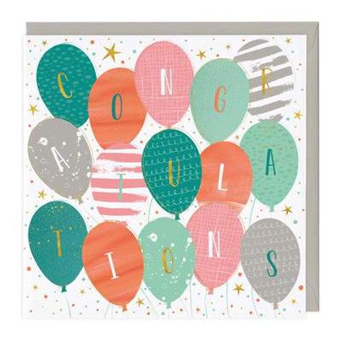Colourful Balloons Congratulations Card