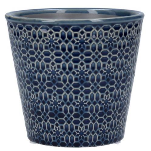 Navy Mosaic Ceramic Pot