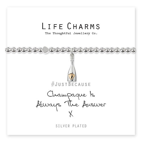 Champagne Is Always The Answer Bracelet