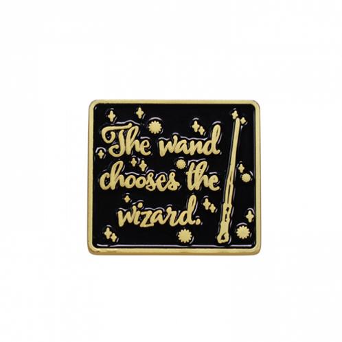 Wand Chooses Wizard Enamel Pin Badge