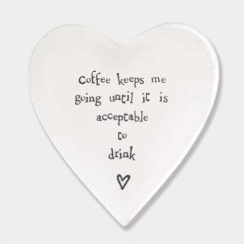 Coffee Keeps Me Going Heart Coaster
