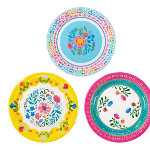 Boho Floral Plates