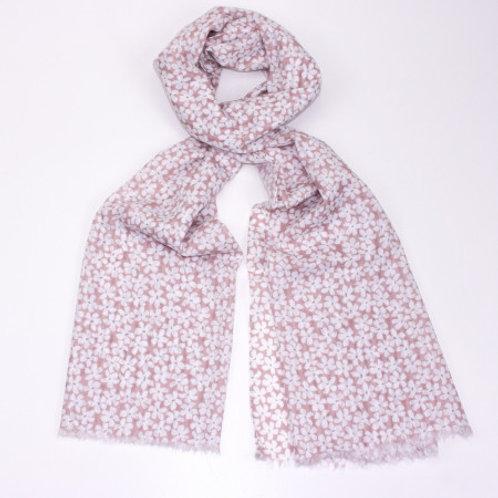 Pink Daisy Scarf