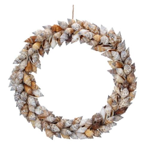 Brown Chula Shell Round Wreath