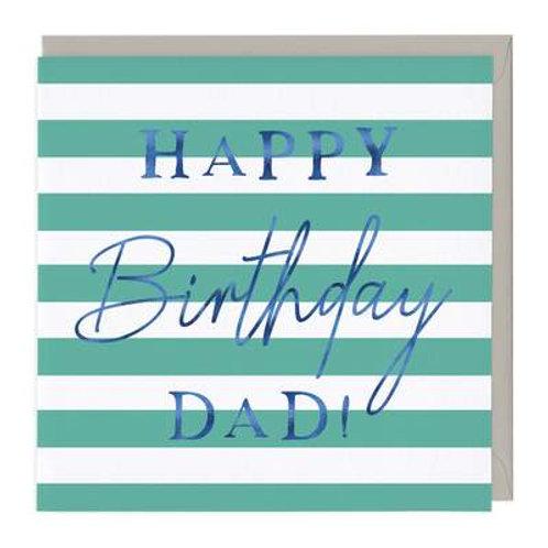 Blue Typography Dad Birthday Card