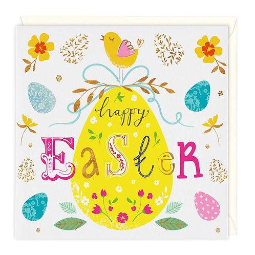 Ornate Egg Happy Easter Card