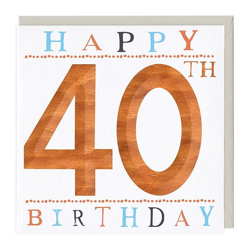 40th Birthday 3D Card