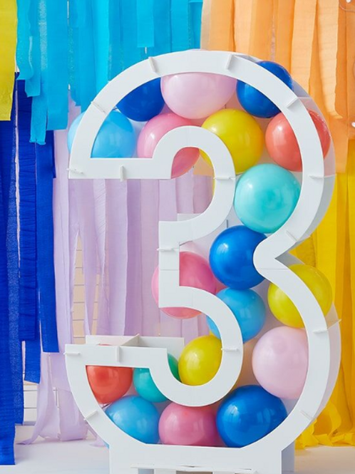 Balloon Mosaic Number Stand