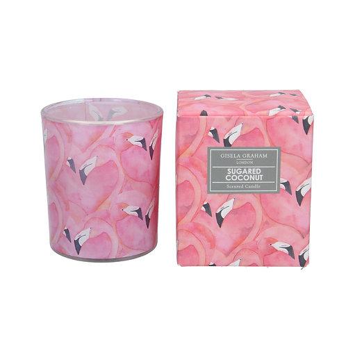 Boxed Scented Candle - Flamingo/Sugared Coconut
