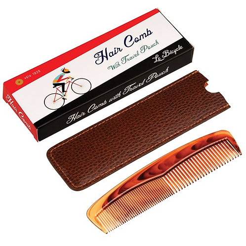 Hair Comb with Travel Pouch