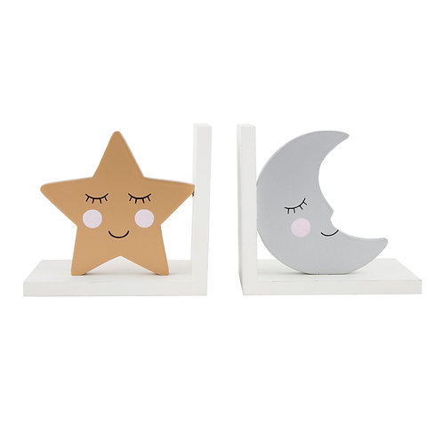 Sweet Dream Star & Moon Bookends