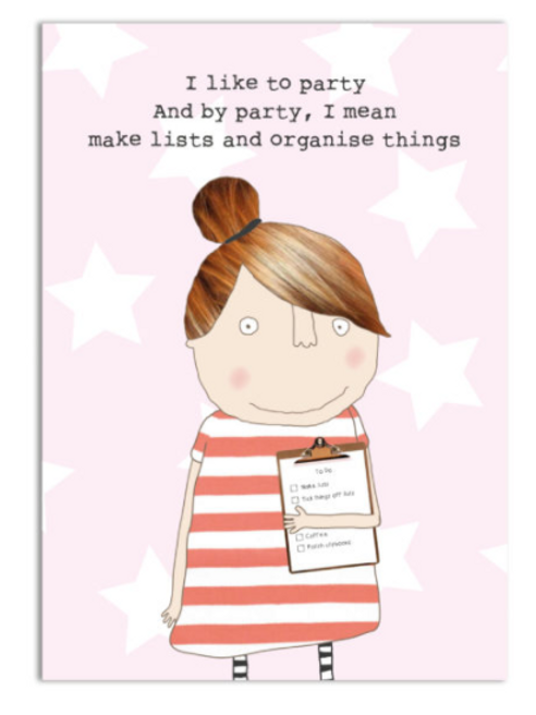 Party Lists A6 Notebook