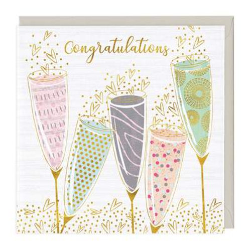 Colourful Cocktails Congratulations Card