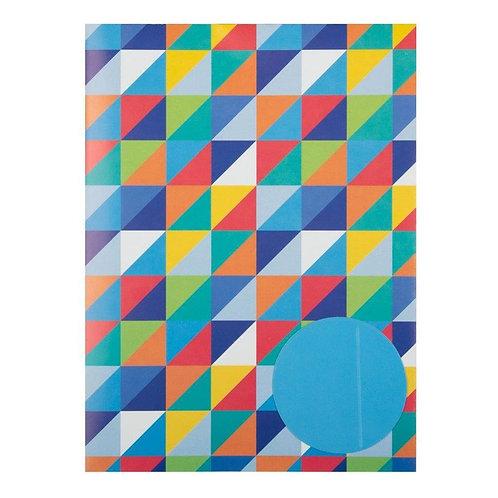Blue Pixels Gift Wrap Set